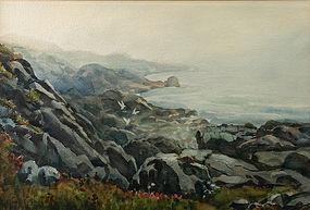Thomas R. Curtin watercolor painting - Foggy Morning