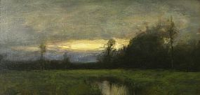 Dennis Sheehan painting - Sunset Over A Marsh