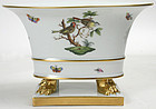 Herend Rothschild bird porcelain cache pot urn