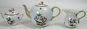 Herend Rothschild bird porcelain tea set