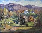 Eric Tobin painting - Autumnal Vermont Landscape