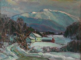 Thomas R. Curtin painting - Mt. Mansfield in winter