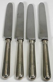 Paul Storr sterling silver handled knives - set of four, 1820