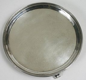 Georgian sterling silver waiter salver