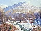 Wallace Weir Fahnestock painting - Dorset, Vermont