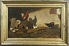 Marcus A. Waterman painting of chickens and rooster