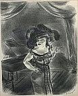 Yasuo Kuniyoshi lithograph, The Burlesque Queen, 1933