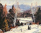 Emile Gruppe painting Mt. Mansfield, Vermont in winter