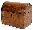 English tea caddy with dome top, Victorian, 19th C.
