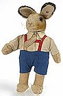 Steiff boy standing rabbit stuffed toy with button 1952