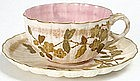 Ott and Brewer American Belleek tea cup and saucer, NJ