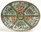Rose Medallion Chinese export oval platter 19th century