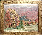 Gustave Cimiotti Vermont fall foliage oil painting