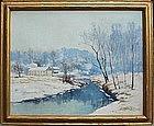 Eugene Leslie Smyth winter Vermont landscape painting