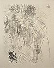 Henri de Toulouse-Lautrec lithograph Au Pied du Sinai