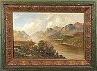 Frank E. Jamieson painting of Loch Katrine Scotland