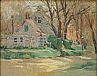 Sophie Marston Brannan oil painting of New England home