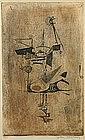 Johnny Friedlander Oiseau III original etching print