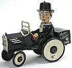 Charlie McCarthy Benzine Buggy tin wind-up toy by Marx