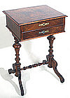 Victorian 2-drawer work / sewing stand, English