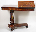 Antique adjustable reading stand with drawer, English