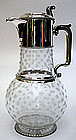 English sterling silver and cut glass claret jug, 1872