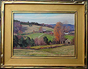 Bernard Corey autumnal painting in Goodnow frame