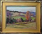Bernard Corey autumnal painting in Goodnow frame