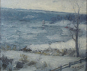 Aaron Harry Gorson painting of impressionist landscape
