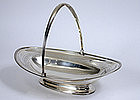 Georgian sterling silver cake basket by Hennell, 1800
