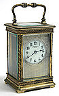 French brass carriage clock by Stowell & Co., Boston
