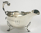 Georgian sterling silver sauce boat