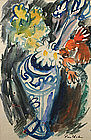 Ben Shahn painting - floral still life, watercolor