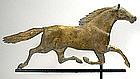Antique folk art running horse weathervane, copper