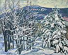 Hildegard Rath painting, Mt. Equinox, Manchester, VT