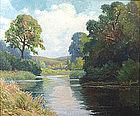 Henry Orne Rider painting - Sudbury River, Framingham