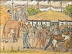 Reynolds Beal drawing - Gorman Brothers Circus, 1928