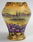Royal Bonn artist signed porcelain scenic vase, Germany