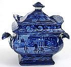 Historical Staffordshire sugar bowl, Mount Vernon