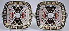 Pair Royal Crown Derby Imari cake plates, 2451