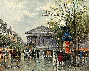 Antoine Blanchard painting of La Madeleine, Paris