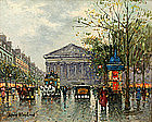 Antoine Blanchard painting of La Madeleine, Paris