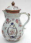 Chinese Export armorial porcelain coffee pot, c.1790
