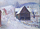 Arthur B. Wilder painting - Vermont village in winter