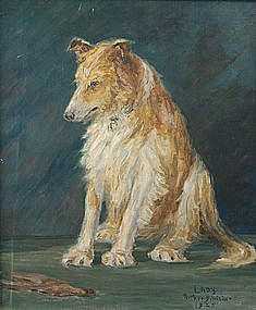 Arthur B. Wilder portrait of collie dog - Lady, 1925