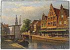 Eduard Alexander Hilverdink painting - Amsterdam street