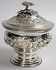 Georgian sterling silver covered sugar bowl, 1774