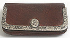 Tiffany & Company leather and sterling silver wallet