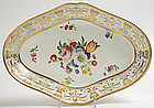Hand painted porcelain dessert dish, English, c.1815