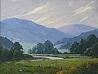 Robert Wesson painting of a Vermont valley landscape